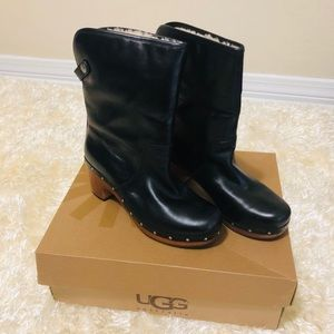 NEW IN BOX! UGG 1958 Lynnea Black Leather Boots